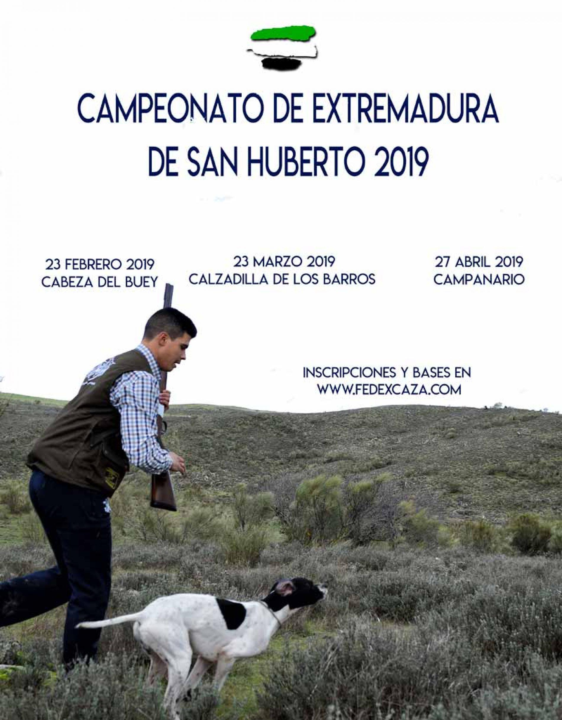 3 Localidades pacenses serán las sedes del Campeonato de Extremadura de San Huberto 2019