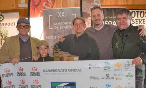 José Luis Parejo se proclama campeón de Extremadura de Perdiz con Reclamo 2019