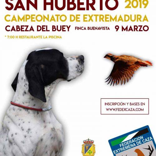 El Campeonato de Extremadura de San Huberto arranca el 9 de marzo