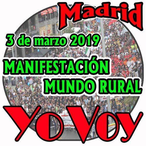 Manifestación del Mundo Rural el 3 M