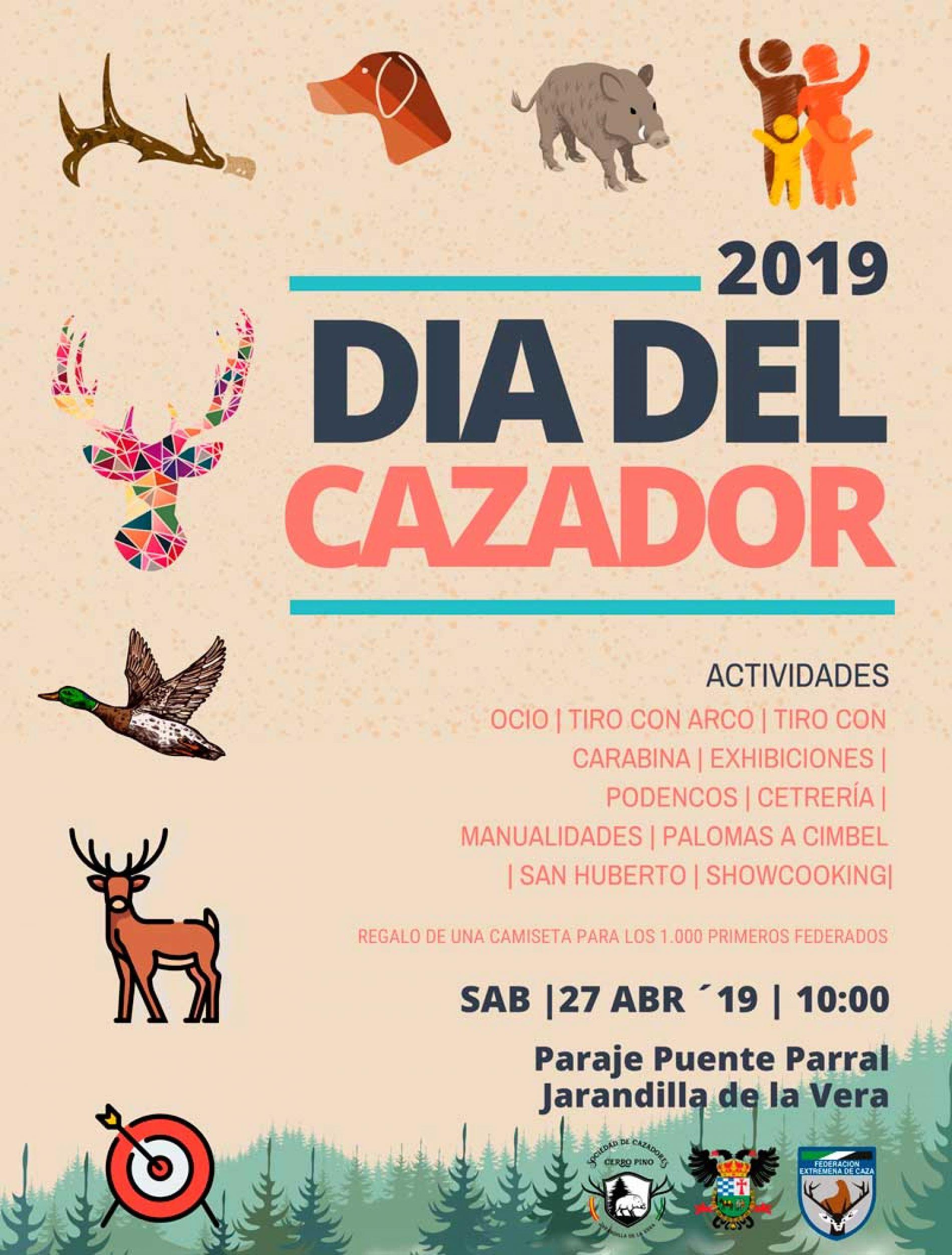 VI Día del Cazador Extremeño el 27 de abril en Jarandilla de la Vera