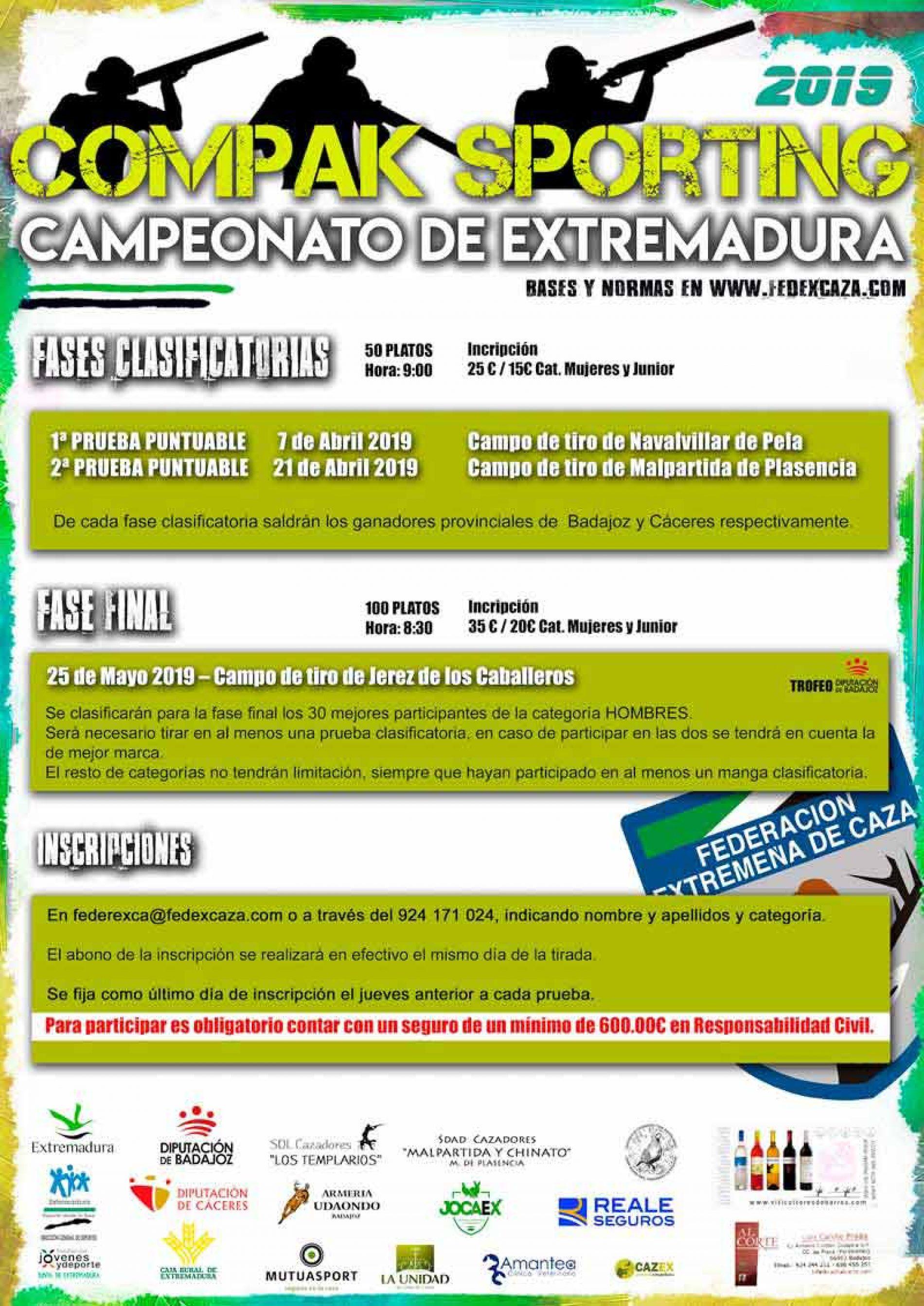 39 tiradores disputarán la fase final del Campeonato de Extremadura de Compak Sporting
