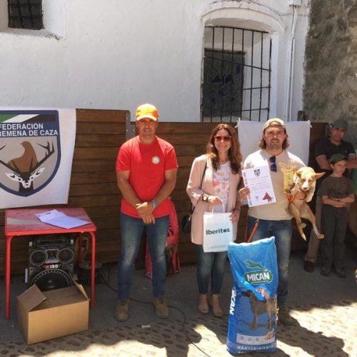José Francisco Murillo y 'Bruja' ganadores del Campeonato de Extremadura de Podencos