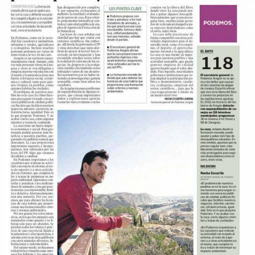 """Podemos: """"La caza es una fuente de ingresos para los pueblos y una actividad sostenible"""""""