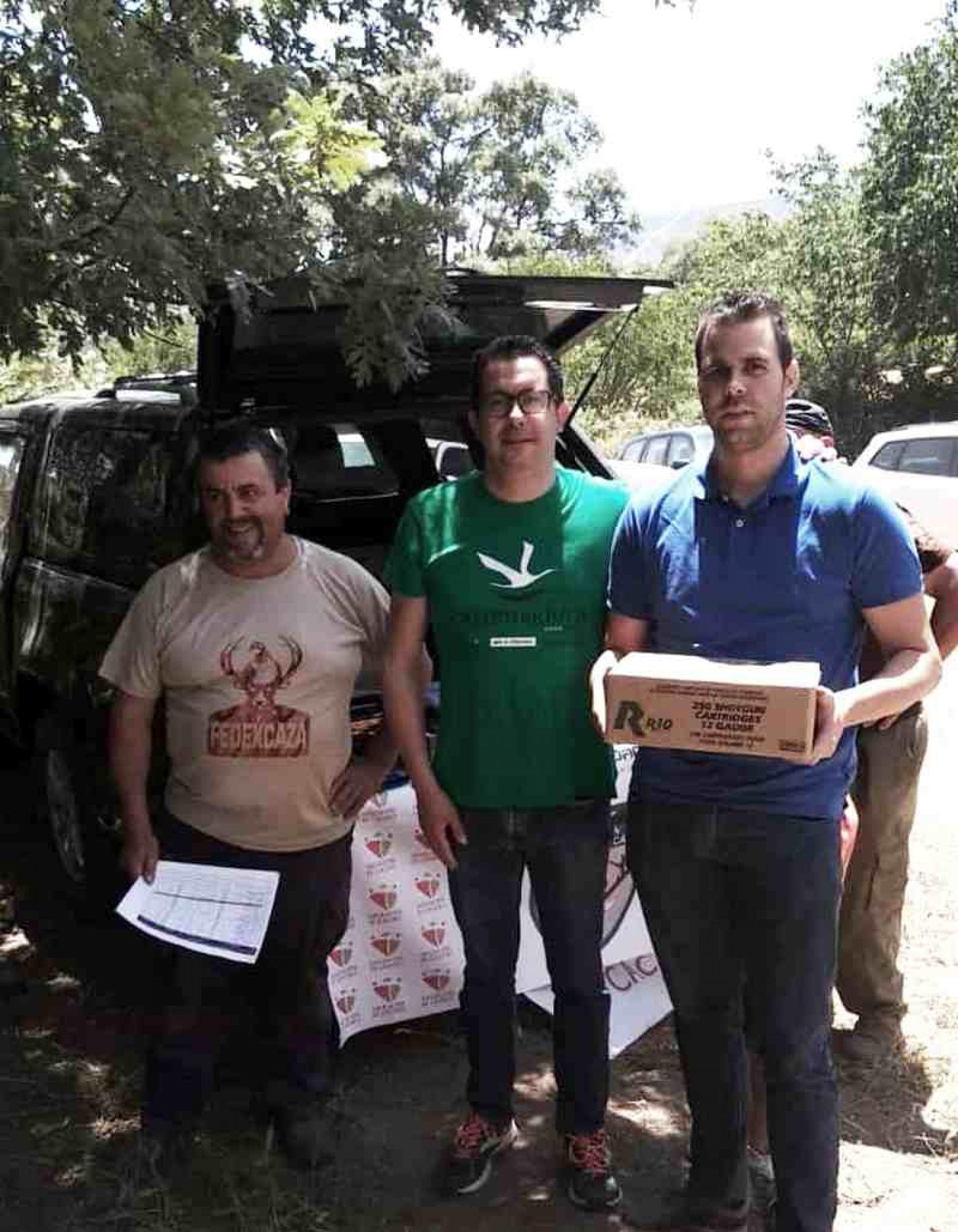 Antonio Gómez ganador de la primera fase del Campeonato de Extremadura de Recorridos de Caza