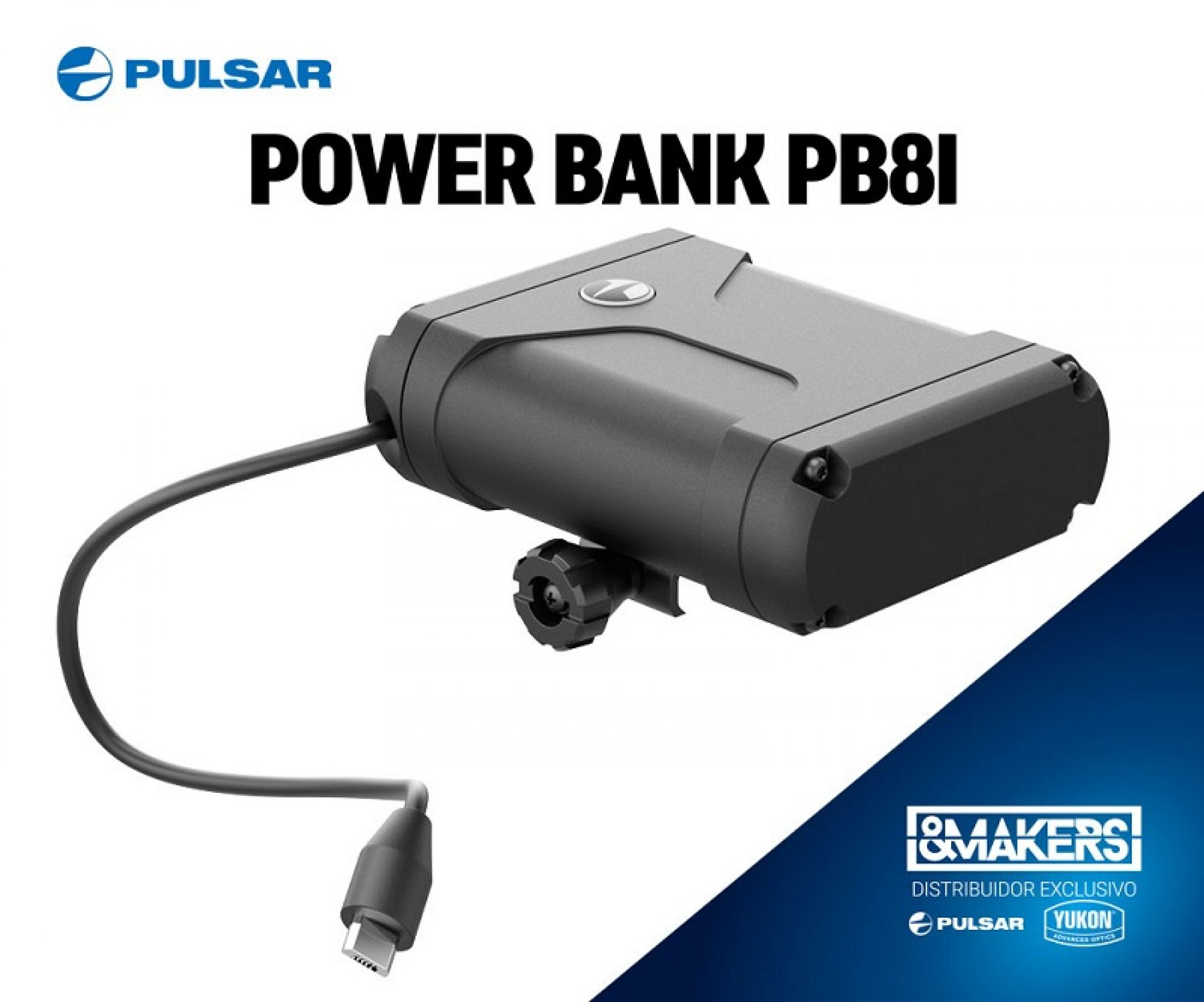 Alarga la batería de su dispositivo Pulsar con la Power bank PB8i