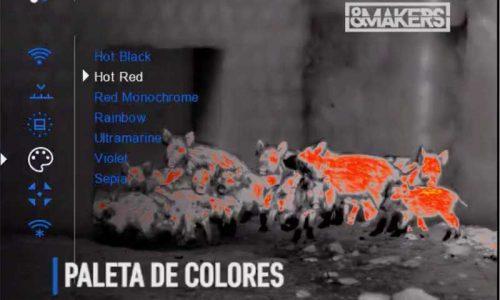 Los 8 modos de color del Binocular Accolade LRF de Pulsar