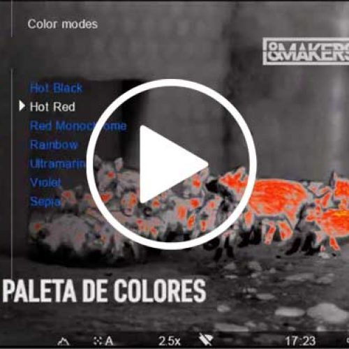 Tutorial de los 8 modos de color del Binocular Accolade LRF de Pulsar