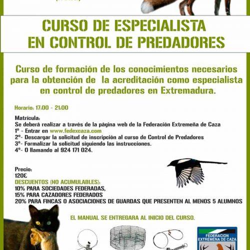 FEDEXCAZA impartirá un nuevo curso de especialista en control de predadores en FECIEX 2019