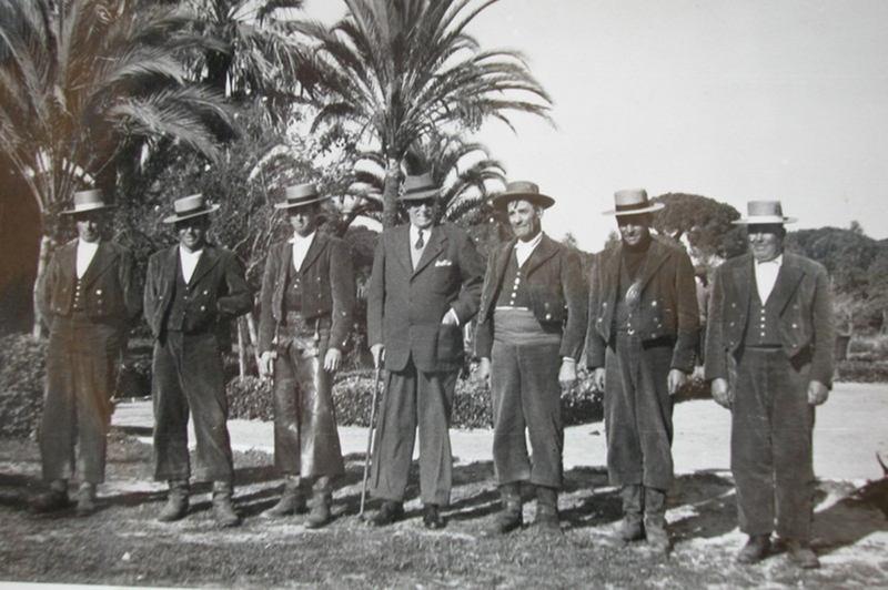 Marques de Borgheto con sus guardas de Doñana