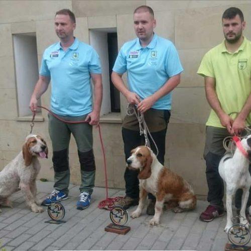 Michael Otero ganador del XXVII Campeonato de España de Perros de Rastro Atraillados, modalidad Jabalí