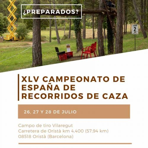 El XLV Campeonato de España de Recorridos de Caza se celebrará en Oristá