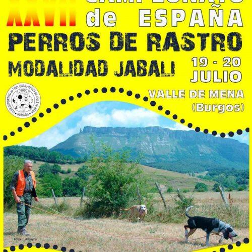 XXVII Campeonato de España de Perros de Rastro, modalidad Jabalí