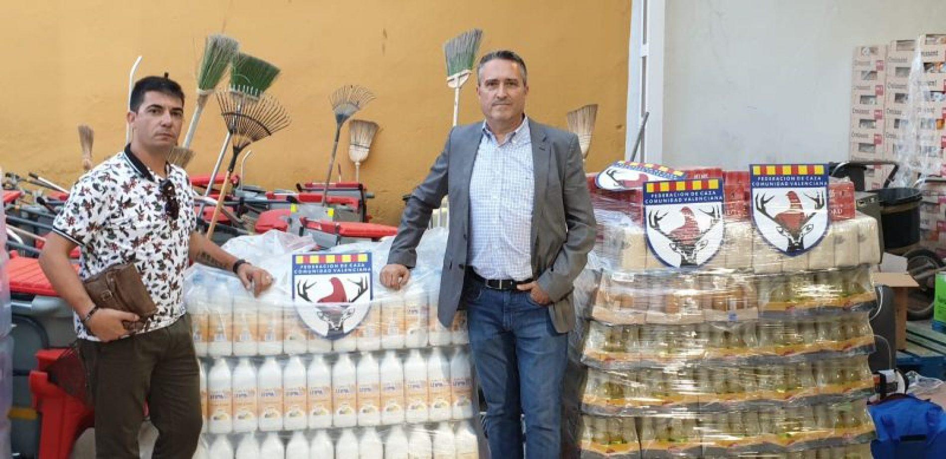 Las Delegaciones de Caza de Castellón, Valencia, y Alicante ayudan a los damnificados por la DANA