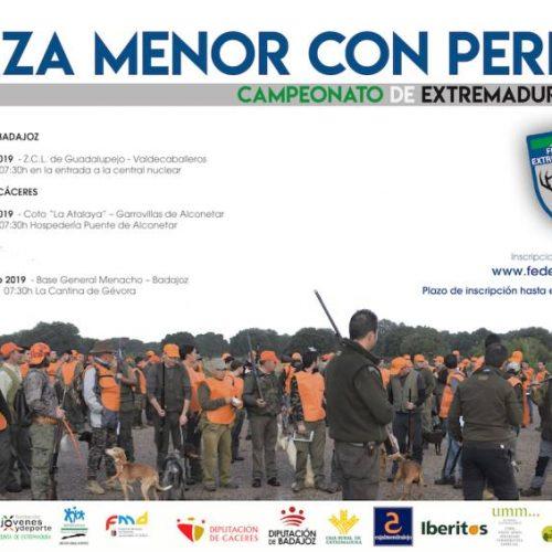 Los campeonatos provinciales de caza menor con perro de Extremadura se celebrarán el 26 de octubre