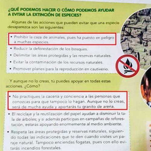 La RFEC exige una rectificación a la Editorial Vicens Vives por adoctrinar a los niños contra la caza