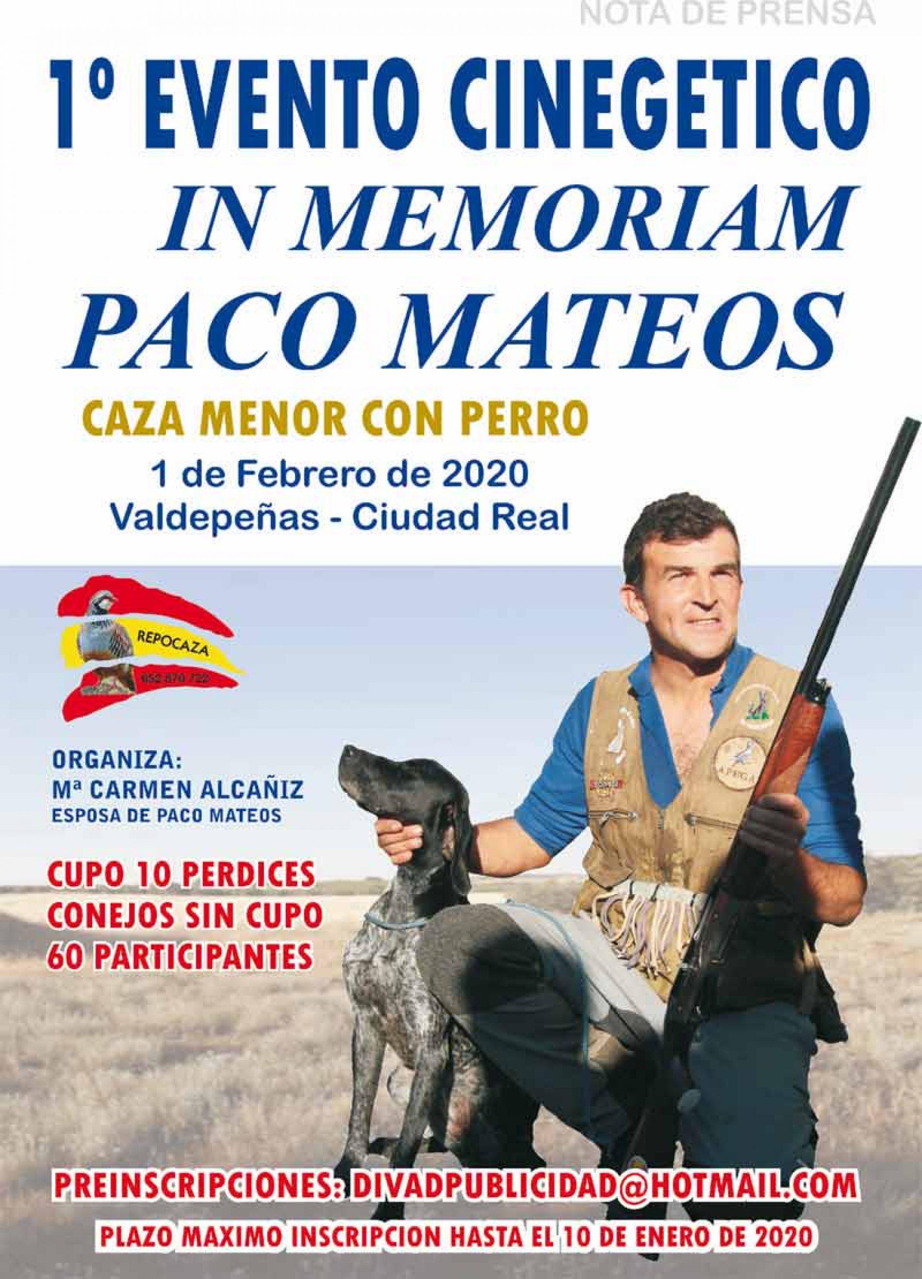 I Evento Cinegético In Memoriam Paco Mateos de caza menor con perro