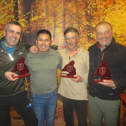 Miguel Ángel, Avelino y José Luis ganadores del Campeonato Autonómico de Becadas 2020