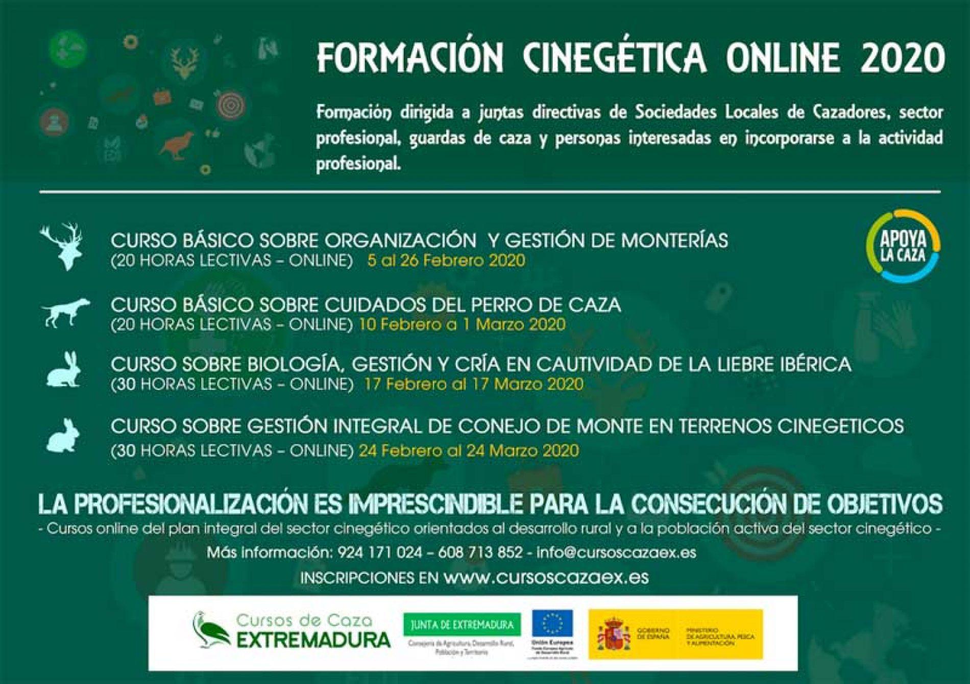 Proyecto Formación Cinegética Online, con 4 cursos GRATIS