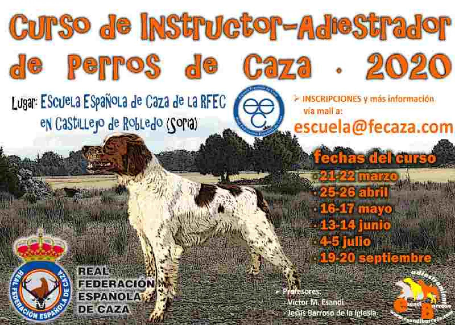 La Escuela Española de Caza organiza un curso de instructor-adiestrador de perros de caza