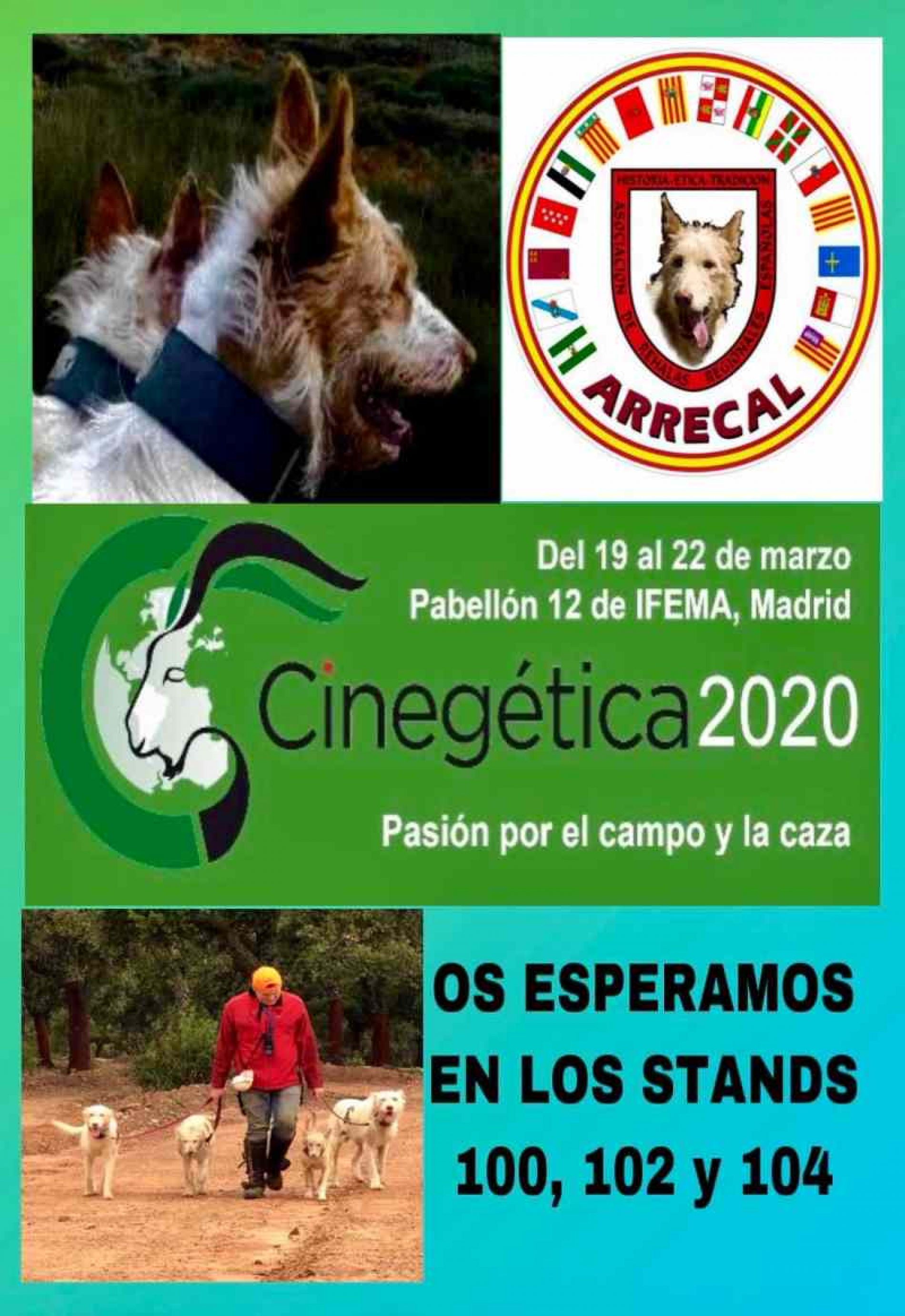 ARRECAL participará en Cinegética 2020 con tres stands y una amplia representación de rehalas