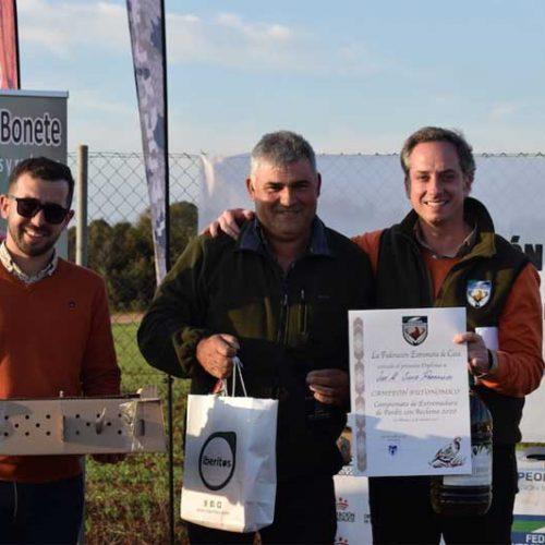 José Manuel Sanz Parralejo y 'Caprichoso', campeones de Extremadura de Perdiz con Reclamo 2020