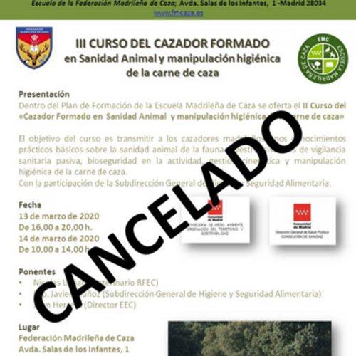 La Federación Madrileña de Caza suspende temporalmente la celebración y laasistencia a actividades de formación