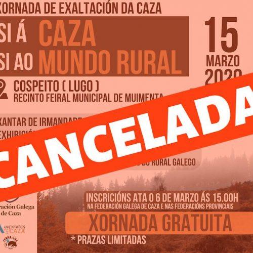Suspendida la jornada de exaltación de la caza del próximo 15 de marzo en Muimenta