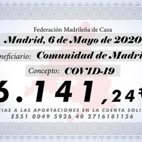 La Federación Madrileña cierra su campaña solidaria contra el COVID-19