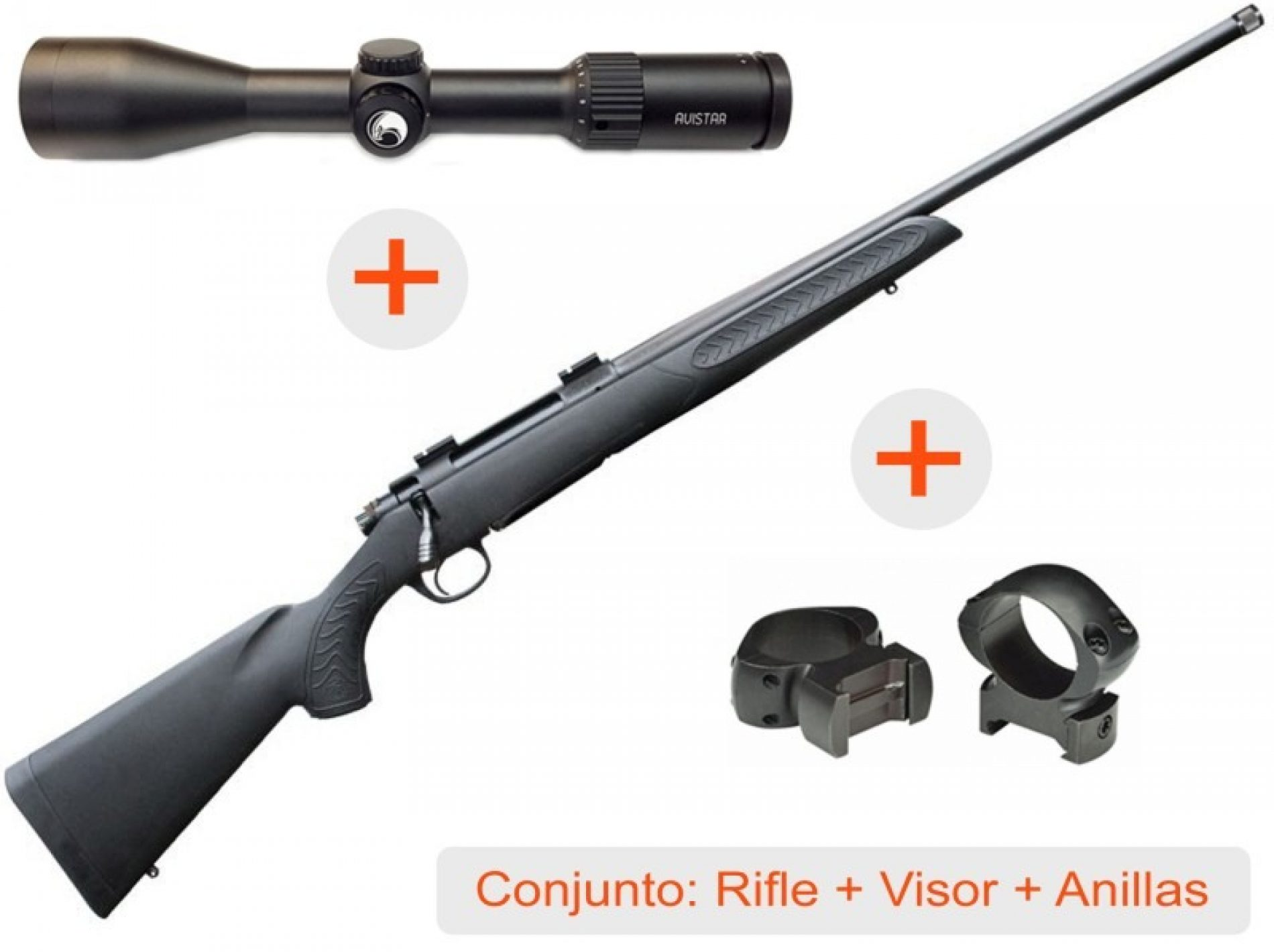 Increíble oferta de Borchers, Pack Rifle + Visor + Anillas