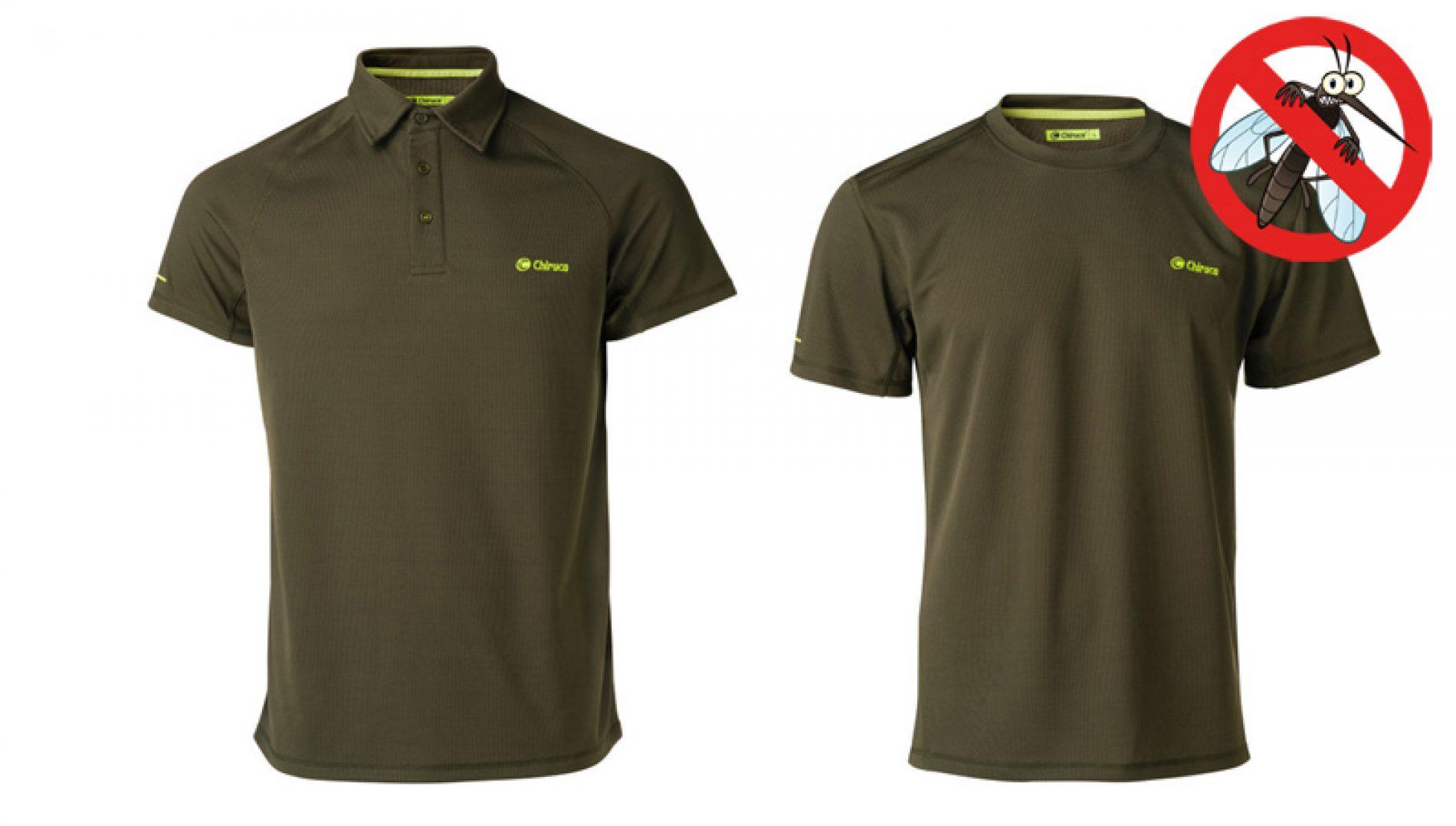 Polo y camiseta de manga corta con protección antigarrapatas