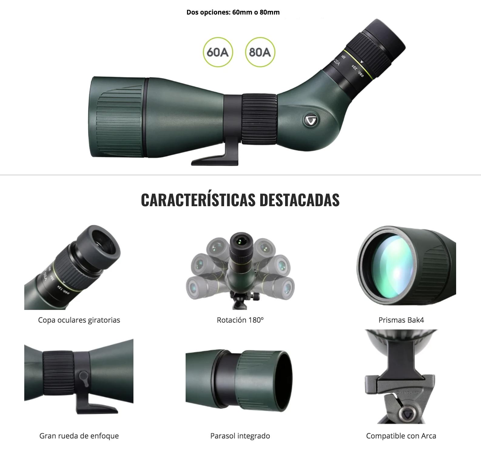 Óptica y accesorios Telescopios terrestresVeo HD