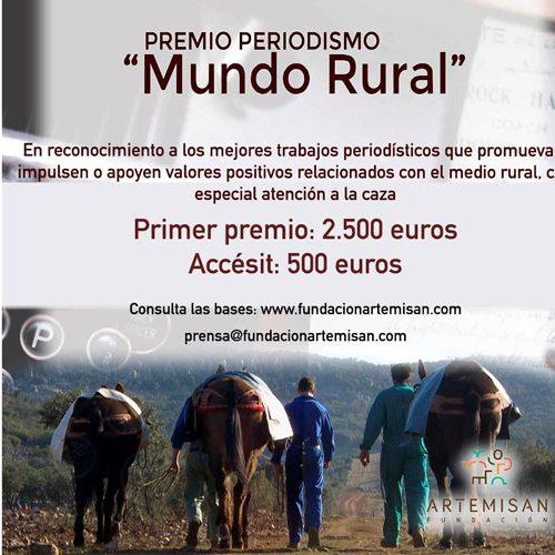 La Fundación Artemisan convoca el Primer Premio de Periodismo 'Mundo Rural'