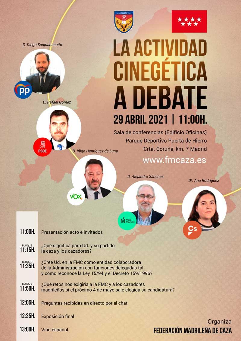 cartel Debate caza política FMC