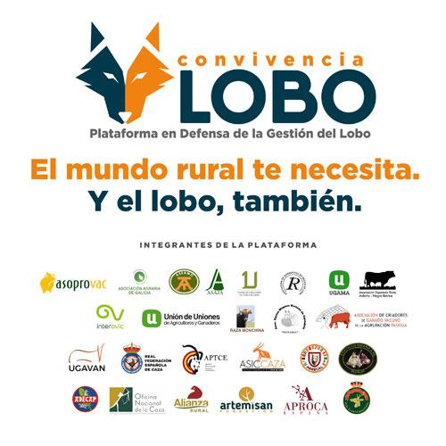 Plataforma Convivencia Lobo. Integrantes y logotipo.