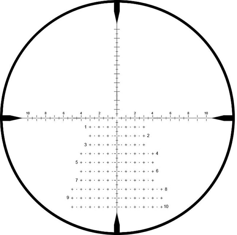 La RMG es la una retícula táctica en primer plano focal