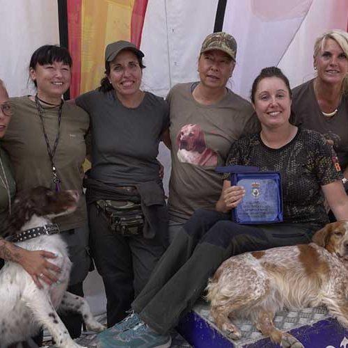 Carla Reig, de la Comunidad Valenciana, gana el Campeonato de España Femenino de Caza Menor con Perro