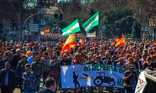 El mundo rural prepara una gran manifestación para enero de 2022